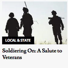 Vet to Vet Maine highlighted in ME Sunday Telegram veterans' section